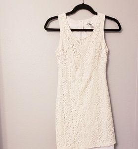 Cato lace and crochet ivory summer dress. Size 2